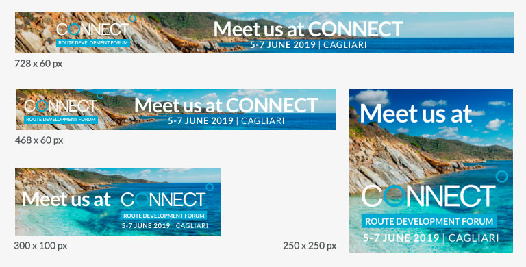 CONNECT Cagliari Marketing Banners